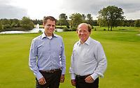 MOLENSCHOT - Manager  Richard Beenackers (l)   en voorzitter Hans  van Moorsel. Golfclub Princenbosch. Copyright Koen Suyk
