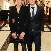NLD/Amsterdam/20120326 - Inloop Schaatsgala 2012, Jan Smeekens en partner Ingeborg