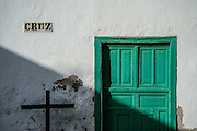 Lanzarote, Teguise, former capital of the island. The island's history is reflected in the old town, a collection of whitewashed houses which beautiful examples of architecture.