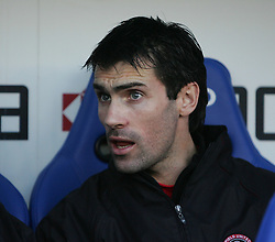 Reading, England - Saturday, January 20, 2007: Reading against Sheffield United's  Keith Gillespie on the bench during the Premier League match at the Madejski Stadium. (Pic by Chris Ratcliffe/Propaganda)