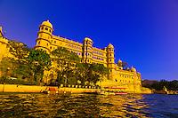 City Palace from Lake Pichola, Udaipur, Rajasthan, India