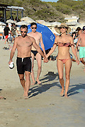 IBIZA, SPAIN, 2016, JULY 04 <br /> <br /> Alessandra Ambrosio with all her family, husband Jamie Mazur and sons Anja Louise and Noah Phoenix in Ibiza island enjoying beach and vacations<br /> ©Exclusivepix Media