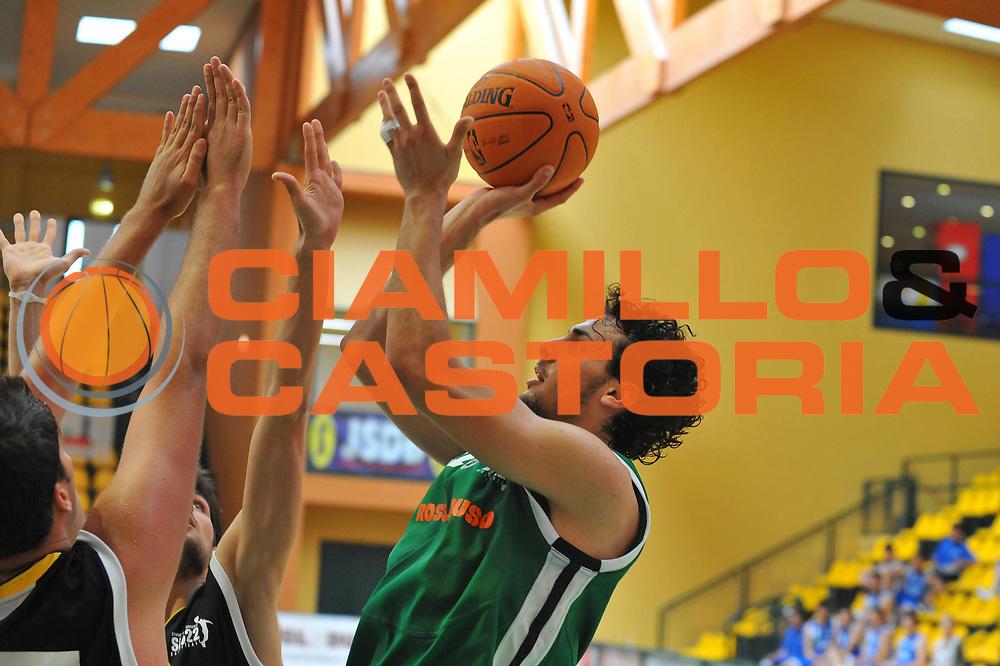 DESCRIZIONE : Jesolo Venezia Summer League 2009-2010 Rossl &amp; Duso Viva Team<br /> GIOCATORE : Stefano Spizzichini<br /> SQUADRA : Rossl &amp; Duso Viva Team<br /> EVENTO : Jesolo Venezia Summer League 2009-2010<br /> GARA : Rossl &amp; Duso Viva Team<br /> DATA : 08/06/2010 <br /> CATEGORIA : Tiro<br /> SPORT : Pallacanestro <br /> AUTORE : Agenzia Ciamillo-Castoria/M.Gregolin<br /> Galleria : Lega Basket A 2009-2010  <br /> Fotonotizia : Jesolo Venezia Summer League 2009-2010 Rossl &amp; Duso Viva Team<br /> Predefinita :