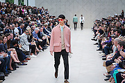 Models on the catwalk for Burberry in London for London Mens Collections  on Tuesday 18th June 2013.