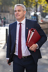 © Licensed to London News Pictures. 28/10/2019. London, UK. Secretary of State for Exiting the European Union Stephen Barclay in Westminster. The EU has granted an extension to the Brexit deadline until 31 January 2020. Photo credit: Rob Pinney/LNP