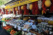 fruit stall, Promenade, Amalfi, Amalfi Coast, UNESCO World Heritage Site, Campania, Italy