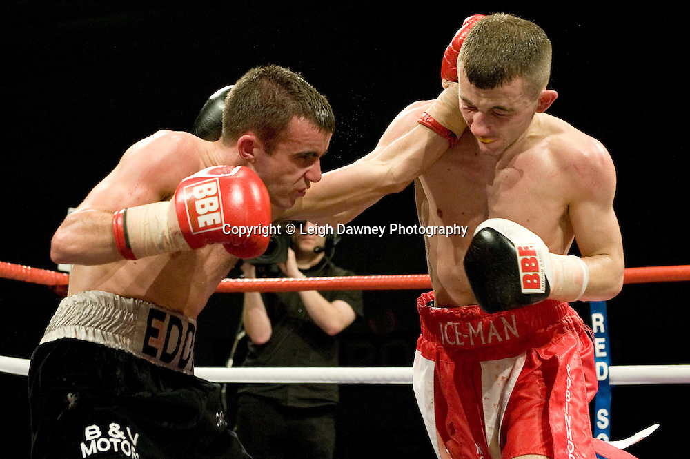 Paul Edwards defeats Andy Bell at the Harvey Hadden Leisure Centre 5th February 2010 Frank Maloney Promotions. Photo credit © Leigh Dawney