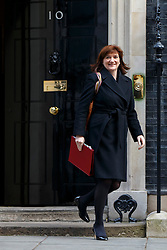© licensed to London News Pictures. London, UK 18/03/2015. Education Secretary Nicky Morgan attending to a cabinet meeting in Downing Street on the Budget Day, Wednesday, 18 March 2015. Photo credit: Tolga Akmen/LNP