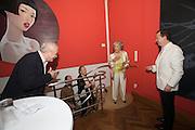 "Presentation of Salon 2008 magazine at Rudolf Budja Galerie. From l.: Derek Weber (Editor-in-chief), Countess Marianne of Sayn-Wittgenstein-Sayn (""Manni""), Dr. Bodo Polzer (Editor)."