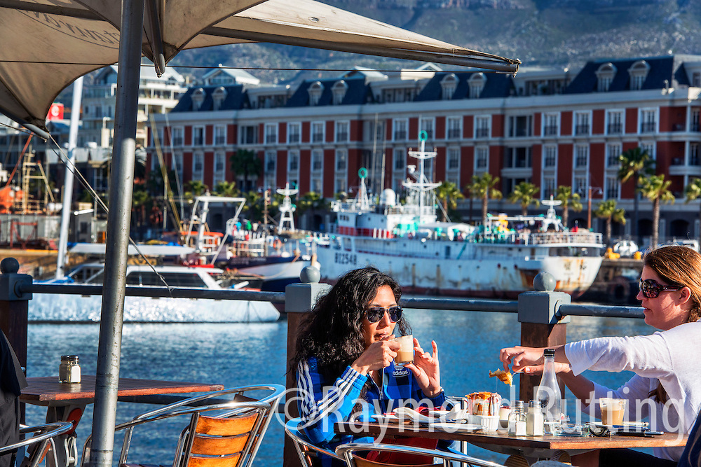 South Africa - Capetown-Cape Town is a coastal city in South Africa. It is the second most populous urban area in South Africa. Situated in the heart of Cape Town's working harbour with the dramatic backdrop of Table Mountain, the Victoria and Alfred Waterfront . photo raymond rutting
