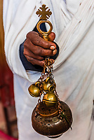 A thurible that holds frankeincense, Cave Monastery Neakuto Leab (Ethiopian Orthodox), near Lalibela, Ethiopia.