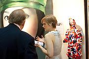 LAUREN HARRIS; GODFREY BARKER, Opening of ARTLondon 2010. Royal Hospital.  Royal Hospital Rd. London. 6 October 2010.  -DO NOT ARCHIVE-© Copyright Photograph by Dafydd Jones. 248 Clapham Rd. London SW9 0PZ. Tel 0207 820 0771. www.dafjones.com.