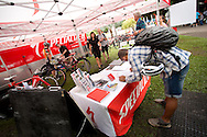 Specialized Expo Bike Service Tent. Festival Stock Images. 2012 Ironman Cairns Triathlon. Cairns, Queensland, Australia. 2/06/2012. Photo By Lucas Wroe.