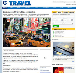 The Telegraph-travel; Times Square in New York City