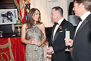 ELIZABETH HURLEY; DAVID FURNISH; SHANE WARNE, Grey Goose Winter Ball to benefit the Elton John Aids Foundation. Battersea Power Station. London. 10 November 2012.
