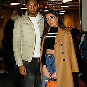 London, England, UK. 1st December 2017. Jade King (R) DeReece Grant attends Sagaboi Magazine: Men's Style 2017 - book launch held at WeWork Old Street.