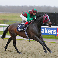 Mahadee and Louis Steward winning the 1.30 race