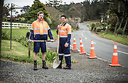 Model Ryan Buchanan &amp; Actor Will Hall model Stubbies workwear in support of Movember.<br />