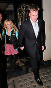03.FEBUARY.2010 - LONDON<br /> <br /> GERI HALLIWELL AND BOYFRIEND HENRY BECKWITH LEAVING SCOTTS RESTAURANT, MAYFAIR BEFORE HEADING ONTO ANNABELLS PRIVATE MEMBERS CLUB IN MAYFAIR. GERI CAME OUT WEARING UN-MATCHING CLOTHES WITH A PINK TARTAN SKIRT, GREEN HODDY AND NORTH FACE JACKET.<br /> <br /> BYLINE: EDBIMAGEARCHIVE.COM<br /> <br /> *THIS IMAGE IS STRICTLY FOR UK NEWSPAPERS AND MAGAZINES ONLY FOR WORLD WIDE SALES AND WEB USE PLEASE CONTACT EDBIMAGEARCHIVE - 0208 954 5968 *