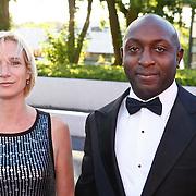 NLD/Hilversum/20100830 - Voetbalgala 2010, Freddy Vierklau en partner Nancy