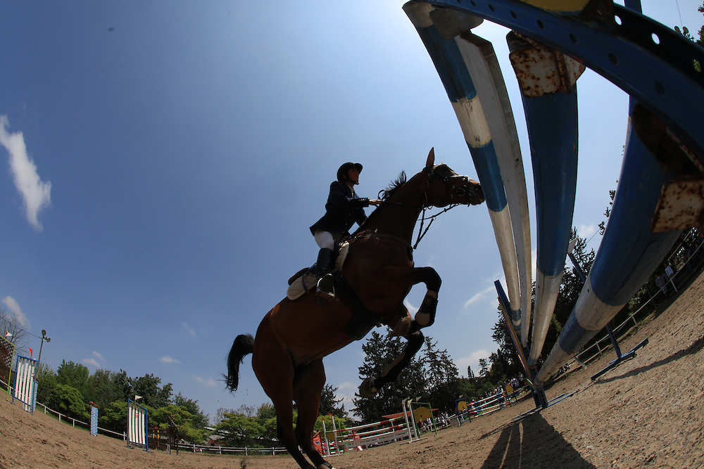 Horse jumping .Kibbutz Yagur / Israel