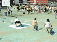 Dodgeball game.@Helio and JellyNYC Pool Party.7/8/07....©Anna DiNardo-Smith/Photopass.