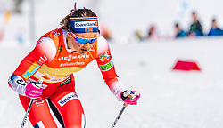 28.02.2019, Seefeld, AUT, FIS Weltmeisterschaften Ski Nordisch, Seefeld 2019, Langlauf, Damen, Staffel 4x5 km, im Bild Ingvild Flugstad Oestberg (NOR) // Ingvild Flugstad Oestberg of Norway during the ladie's Relay 4x5 km competition of the FIS Nordic Ski World Championships 2019. Seefeld, Austria on 2019/02/28. EXPA Pictures © 2019, PhotoCredit: EXPA/ Stefan Adelsberger
