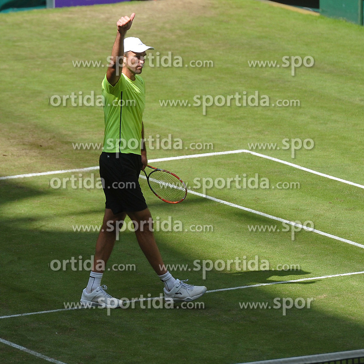 17.06.2015, Gerry Weber Stadion, Halle Westfalen, GER, ATP Tour, Gerry Weber Open 2015, Tag 3, im Bild Ivo Karlovic (CRO) // during day tree of 2015 Gerry Weber Open of ATP world Tour at the Gerry Weber Stadion in Halle Westfalen, Germany on 2015/06/17. EXPA Pictures &copy; 2015, PhotoCredit: EXPA/ Eibner-Pressefoto/ Franz<br /> <br /> *****ATTENTION - OUT of GER*****