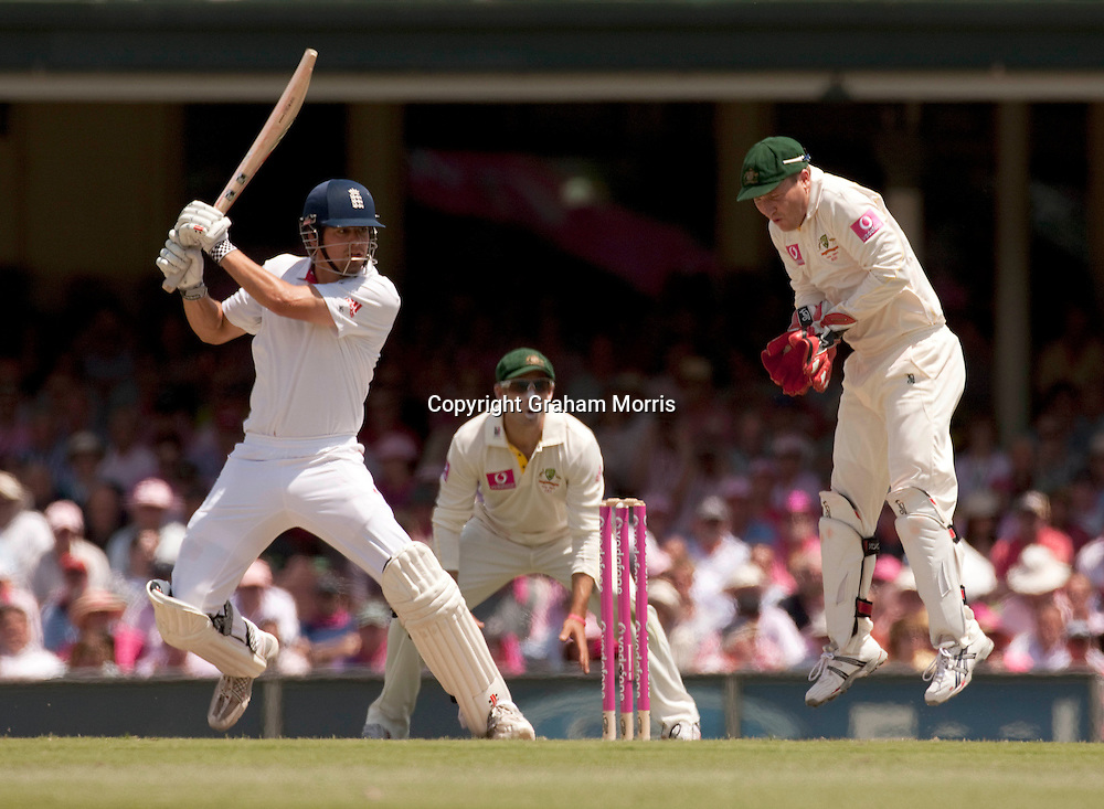 Alastair Cook bats during his century in the fifth and final Ashes test match between Australia and England at the SCG in Sydney, Australia. Photo: Graham Morris (Tel: +44(0)20 8969 4192 Email: sales@cricketpix.com) 05/01/11
