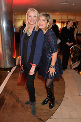 Left to right, ANNEKA RICE and PENNY SMITH at the Costa Book Awards 2013 held at Quaglino's, 16 Bury Street, London on 28th January 2014.
