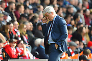 Southampton manager Mark Hughes during the Premier League match between Southampton and Chelsea at the St Mary's Stadium, Southampton, England on 7 October 2018.
