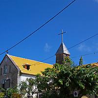 France, Guadeloupe, Les Saintes. Church of Bourg des Saintes, Guadeloupe.