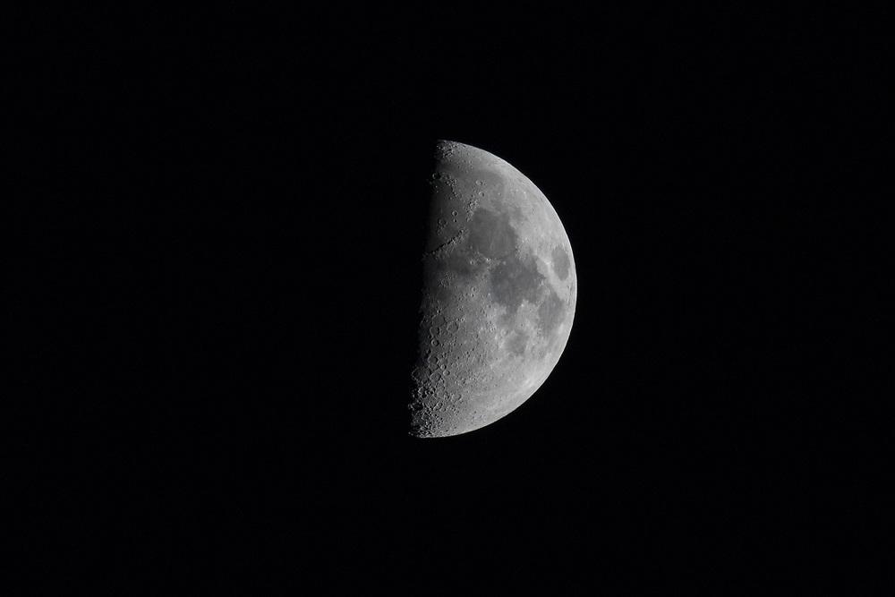 Nov. 26, 2017: First Quarter moon over  Fort Lauderdale, Florida.