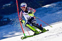 WALSH Thomas C, LW4, USA, Slalom at the WPAS_2019 Alpine Skiing World Cup, La Molina, Spain