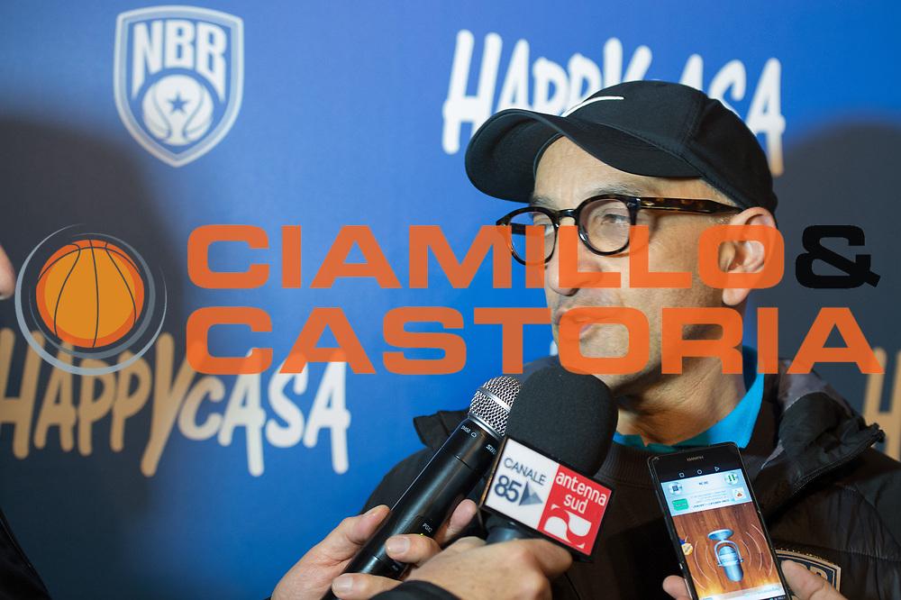 Francesco Vitucci <br /> Happycasa Basket Brindisi Presentazione Coach Vitucci<br /> Legabasket A 2017-2018<br /> Brindisi17 /12/2017<br /> Foto Ciamillo-Castoria/ M.Longo