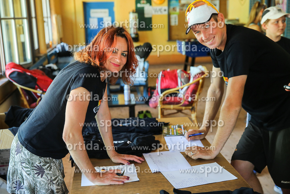 Anja Regent, Robert Cokan during meeting of TK Sport Plus after season 2014/15 on June 6, 2015 in TC Ilirija, Ljubljana, Slovenia. Photo by Vid Ponikvar / Sportida
