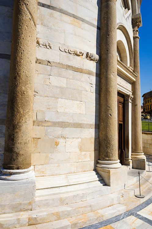 Entrance to the Leaning Tower, Pisa, Tuscany, Italy