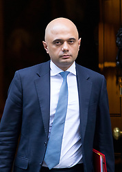 © Licensed to London News Pictures. 16/01/2018. London, UK. Housing, Communities and Local Government Secretary Sajid Javid leaving Downing Street after attending a Cabinet meeting this morning. Photo credit : Tom Nicholson/LNP
