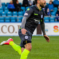 Stephen Dobbie (11) of Queen of the South celebrates after scoring during the Ladbrokes Scottish Championship game between Greenock Morton and Queen of the South at Cappielow Park on 4th November 2017 in Greenock, Scotland.   (c) BERNIE CLARK | SportPix.org.uk