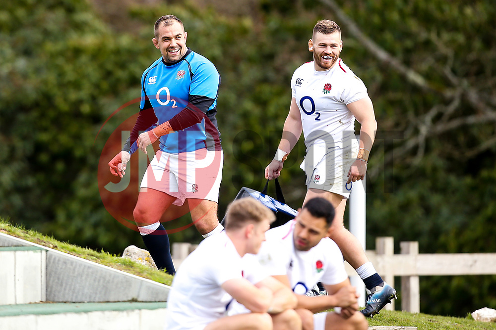 - Mandatory by-line: Robbie Stephenson/JMP - 08/03/2019 - RUGBY - England - Training session ahead of Guinness Six Nations match against Italy