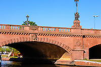 Berlin, Germany. Moltke Bridge, Moltkebrücke, is a bridge from 1891 over the Spree river, one of the few to survive WW2.