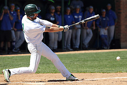 11 April 2015:  Adam Glogovsky during an NCAA division 3 College Conference of Illinois and Wisconsin (CCIW) Pay in Baseball game during the Conference Championship series between the Millikin Big Blue and the Illinois Wesleyan Titans at Jack Horenberger Stadium, Bloomington IL