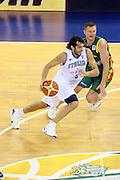 DESCRIZIONE : Madrid Spagna Spain Eurobasket Men 2007 Italia Lituania Itlay Lithuania<br /> GIOCATORE : Gianluca Basile<br /> SQUADRA : Italia Italy <br /> EVENTO : Eurobasket Men 2007 Campionati Europei Uomini 2007 <br /> GARA : Italia Lituania Italy Lithuania<br /> DATA : 08/09/2007 <br /> CATEGORIA : Palleggio<br /> SPORT : Pallacanestro <br /> AUTORE : Ciamillo&amp;Castoria/G.Ciamillo<br /> Galleria : Eurobasket Men 2007<br /> Fotonotizia : Madrid Spagna Spain Eurobasket Men 2007 Italia Lituania Italy Lithuania<br /> Predefinita :