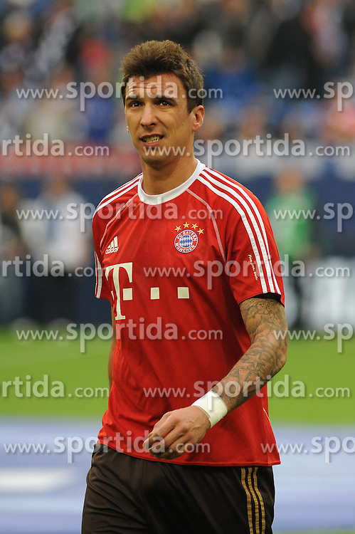 21.09.2013, Veltins Arena, Gelsenkirchen, GER, 1. FBL, Schalke 04 vs FC Bayern Muenchen, 6. Runde, im Bild Mario Mandzukic ( FC Bayern Muenchen/ Einzelmotiv ) // during the German Bundesliga 6th round match between Schalke 04 and FC Bayern Munich at the Veltins Arena, Gelsenkirchen, Germany on 2013/09/21. EXPA Pictures &copy; 2013, PhotoCredit: EXPA/ Eibner/ Thomas Thienel<br /> <br /> ***** ATTENTION - OUT OF GER *****