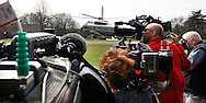 Marine One lands on the White House South Lawn to pick up President Barack Obama on March 11, 2016<br /> Photo by Dennis Brack