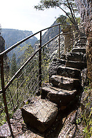 Granite stairs near the top of the Mist Trail in Yosemite National Park.