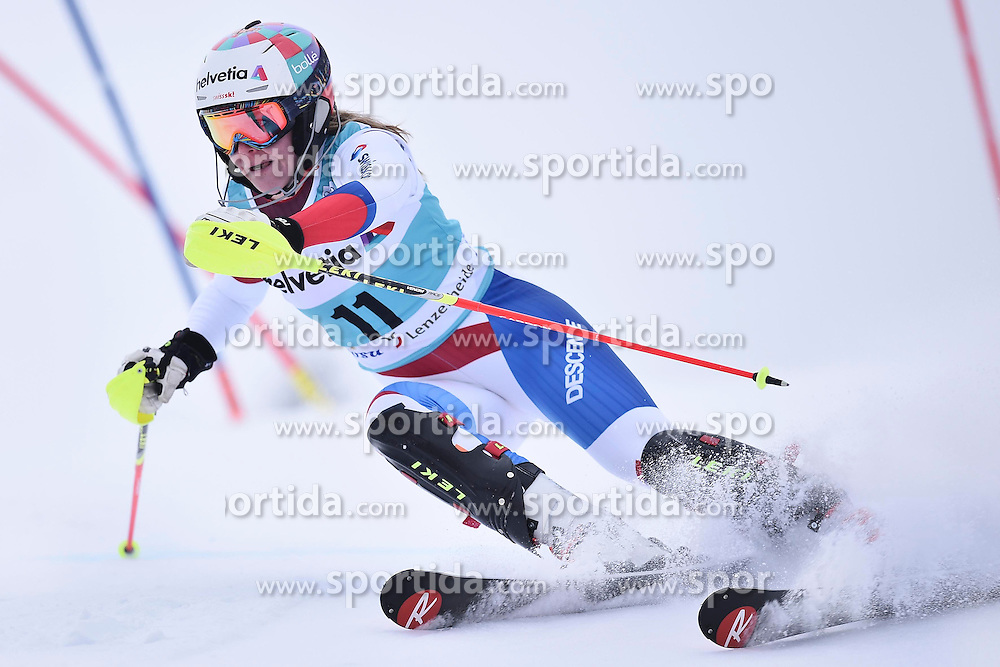 13.03.2016, Pista Silvano Beltrametti, Lenzerheide, SUI, FIS Weltcup Ski Alpin, Lenzerheide, Superkombination, Slalom, Damen, im Bild Rahel Kopp (SUI) // during ladie's Supercombi, Slalom Race of Lenzerheide FIS Ski Alpine World Cup at the Pista Silvano Beltrametti in Lenzerheide, Switzerland on 2016/03/13. EXPA Pictures &copy; 2016, PhotoCredit: EXPA/ Freshfocus/ Manuel Lopez<br /> <br /> *****ATTENTION - for AUT, SLO, CRO, SRB, BIH, MAZ only*****
