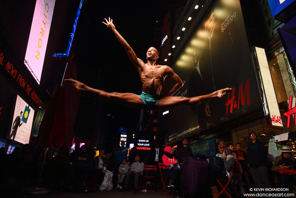 Dance As Art  New York City Photography Times Square Series with dancer, Christopher R Wilson