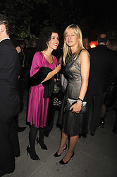 Left to right, MOLLIE DENT-BROCKLEHURST and LADY HELEN TAYLOR at the annual Serpentine Gallery Summer Party in Kensington Gardens, London on 9th September 2008.