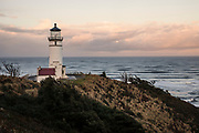 WA14519-00...WASHINGTON - North Head Lighthouse in Cape Disapointment State Park.
